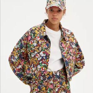 Levi's X Super Mario Bros Crop denim jacket XL NWT